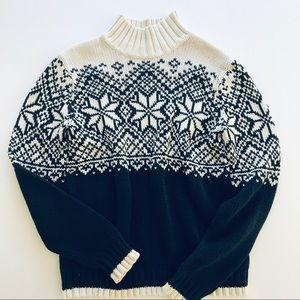 Vintage Knit IZOD Snowflake ❄️ Sweater, Sz M